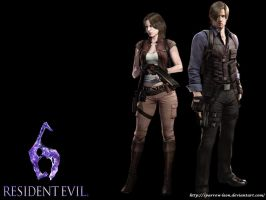 Leon and Helena ~ Resident Evil 6 by Sparrow-Leon