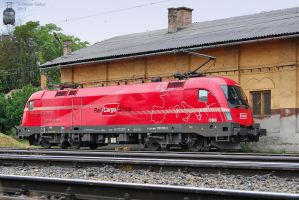 1116 016-5 'Rail Cargo Group' resting in Gyor by morpheus880223