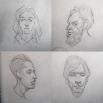 Head sketches 01 by art-alchemist-victor