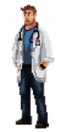 Dr. Cox - pixel art by kaio89