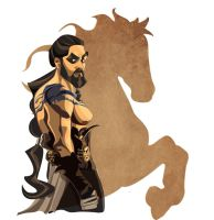 Khal Drogo from Game of Thrones by SummoningTheDarkness