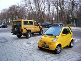 Yellow Big and Small Car by quizzer