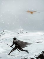 Manly Snow Skipping by Izene