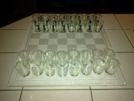 ALCOHOLIC CHESS (alcoholicity) stemware by PalarusRex