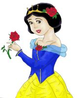 Snow White rose dress- color by ProtectorKorii