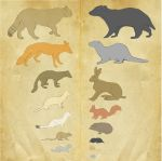Redwall Creatures by Benalene