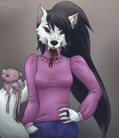 Marceline the furry vampire queen by LushmindaWolf