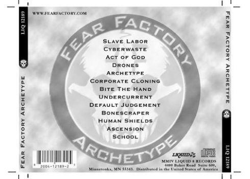 fear factory cd jewelcase back by natenation