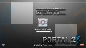 Windows 7 Portal Log-On Screen [Read Description] by AshpodThePortalFur