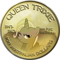 Great and Powerful Queen Trixie Coin by Neon-NS