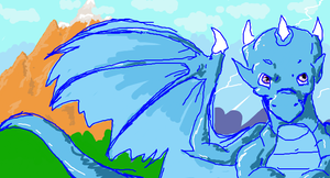 iscribble - dragony thing by kyrio