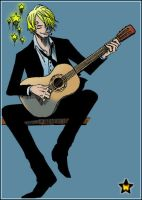 Sanji's playing Guitar by AneaKitsu