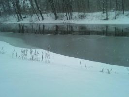 River (On a Snowy Day) by Emily-artfreak-nerd