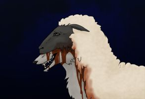 Wolf in Sheep's Clothing by spectral-fox