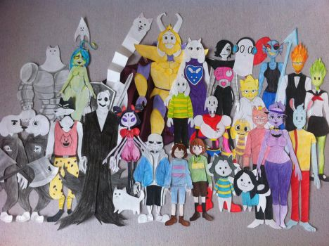 Papers UNDERTALE by fnafmangl