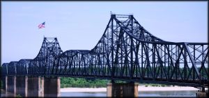 Spanning the Mississippi at Vicksburg... by LadyAliceofOz