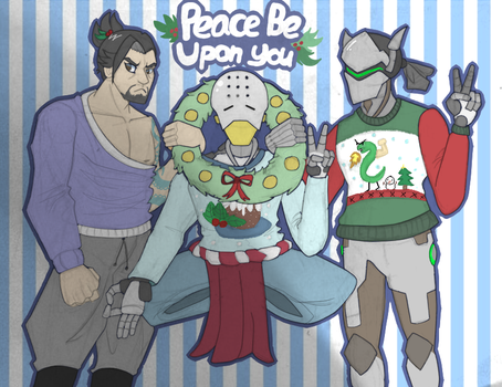 Ugly Overwatch Christmas Sweaters! by NinjaSniperKitty