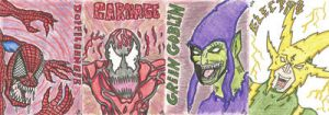 More spidey villan sketch cards by kylemulsow