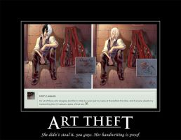 Art Theft Demotivational by MsAbominable