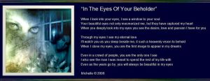 In The Eyes Of Your Beholder by VisualPoetress