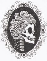 Skull Cameo Tattoo Design by SanguineAsperso