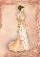 La Belle Epoque  Inspired Fashion Illustration by BasakTinli