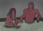 Red Family Bath by Shadow-Hoshi