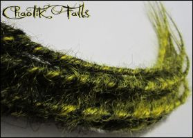 Chaotik Falls Black and Yellow Blended Dreads by ChaotikFalls