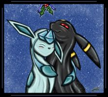 Umbreon x Glaceon Commission by The-Bluetip