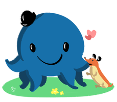 Oswald and Weenie by Budgies