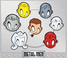 Heads Up Metal Men by HeadsUpStudios