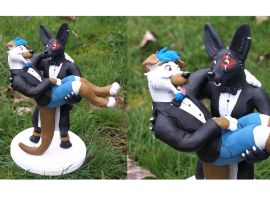 Wedding Cake Topper for Coy by WickedSairah