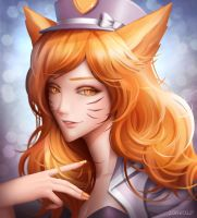 Ahri by LONEOLD