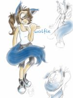 Ima Wolfie! :'D by ElectricLoba
