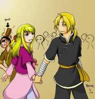 FMA-Hand in Hand coloured by qianying