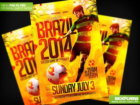 Soccer World Cup Flyer Template PSD by Industrykidz