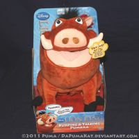 2011 Talking Pumbaa Plush toy by dapumakat