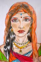 A face of India by Lariposa