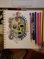 Lucha Skull Colour by 12KathyLees12