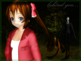 MMD-Behind you [Slender and Oni] and DL  poses by TaniaVocaloid