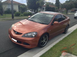 Honda Integra Type S (Orange) by RZ-028-Hellblaze