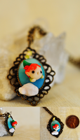 Soaring Peter Pan Necklace by wibblequibble