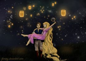 Eugene and Rapunzel by Flompy