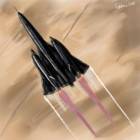 SR-71 speed paint by fighterace2688