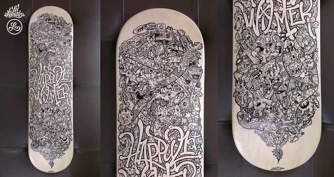 Skateboard Doodle Art by LeiMelendres