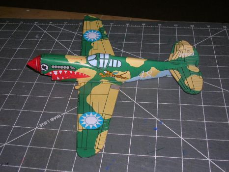dimeweight flying P40 papercraft by falcon01