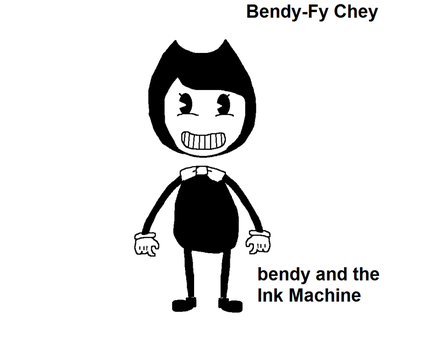 Parody Chey in Bendy and the ink machine by TheSapphireMiner