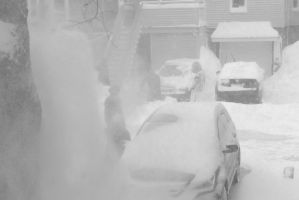 2015 January Blizzard, Snow Blowing 4 by Miss-Tbones