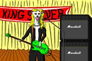 'Greyhound Rock Star' in MS Paint by Cecilia-Schmitt