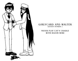 Girlycard and Walter Lesson 1 by McMonster-Ridgeback